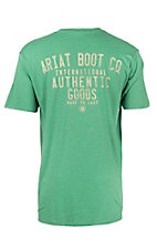 Ariat Men's Kelly Green with Yellow Logo Short Sleeve T-Shirt