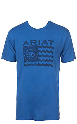 Ariat Men's Blue Old Glory Short Sleeve T-Shirt