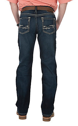 Ariat M4 Adkins Round Up Cavender's Exclusive Men's Open Pocket Low Rise Stretch Boot Cut Jeans