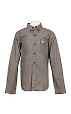 Ariat Boy's Coffee Bean Lucky Print Cavender's Exclusive L/S Western Shirt