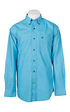 Ariat Men's Caidan Light Blue Print L/S Western Shirt