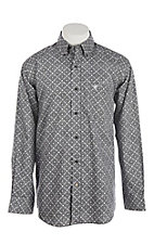 Ariat Men's Houston Black & Grey Printed Cavender's Exclusive L/S Western Shirt