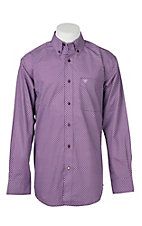 Ariat Men's Plum Jonah Print Cavender's Exclusive Long Sleeve Western Shirt