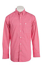 Ariat Men's Morrison Pink Printed Long Sleeve Exclusive Western Shirt