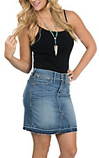 Ariat Women's Ella Deconstructed LuLu Wash Denim Skirt