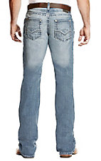 Ariat Men's M5 Blake Shasta Light Wash Slim Boot Cut Jeans