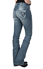 Ariat Women's Light Wash Real Boot Cut Heirloom Jeans
