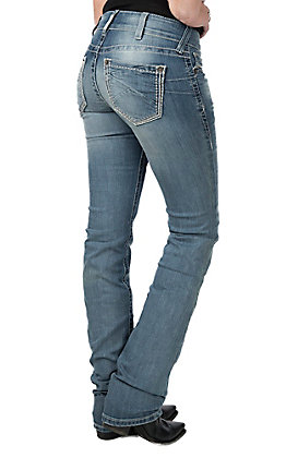 Ariat Women's Light Wash Real Straight Hanna Jeans