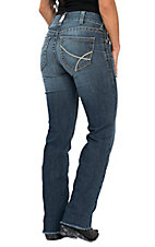 Ariat Women's Real Straight Baseball Stitch Jeans