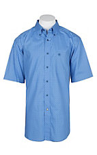 Ariat Men's Delphinium Blue Dundee S/S Western Shirt