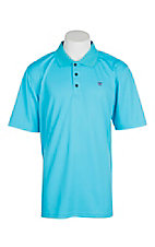 Ariat Men's Blue Atoll Heat Series Tek Polo Shirt