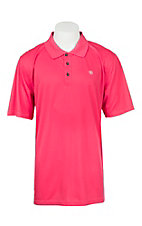 Ariat Men's Cereza Pink Heat Series Tek Polo Shirt