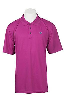 Ariat Men's Rococo Violet Heat Series Tek Polo Shirt