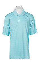 Ariat Men's Blue Radiance Turquoise Fade Stripe Heat Series Tek Polo Shirt