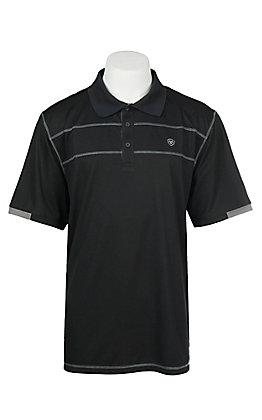 Ariat Men's Black Links Heat Series Tek Polo Shirt