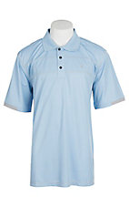 Ariat Men's Links Ghost Blue Heat Series Tek Polo Shirt