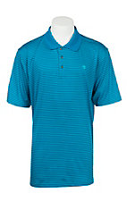 Ariat Men's Mykonos Blue Fade Stripe Heat Series Tek Polo Shirt