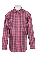Ariat Men's Hawthorn Rose Checker Plaid Jack Shirt L/S Wrinkle Free Western Shirt