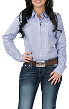 Ariat Women's REAL Purple Kirby Paisley Stretch L/S Western Snap Shirt
