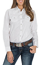 Ariat Women's REAL Challenger White L/S Western Snap Shirt