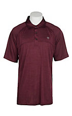 Ariat Men's Charger Berry Bark Heat Series Tek Polo Shirt