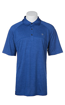 Ariat Men's Charger Sapphire Heat Series Tek Polo Shirt