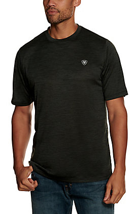 Ariat Men's Charger Charcoal TEK Heat Series Short Sleeve T-Shirt