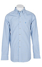Ariat Pro Series White Dorian Plaid L/S Western Shirt