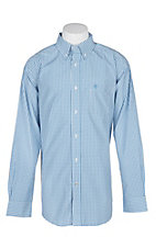 Ariat Pro Series Blue Crowley Checkered L/S Western Shirt