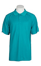 Ariat Men's Enamel Blue Heat Series Tek Polo Shirt