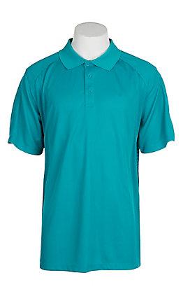 Ariat Men's Enamel Blue Heat Series Tek Polo Shirt