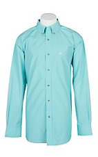 Ariat Pro Series Seafoam Hydrous Mini Plaid L/S Western Shirt