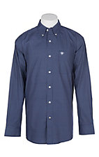 Ariat Men's Navy Elliot Polka Dot Print L/S Western Shirt