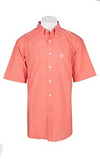 Ariat Men's Hot Coral Fanning S/S Western Shirt