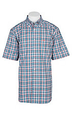 Ariat Pro Series Fisher Blue Plaid S/S Western Shirt