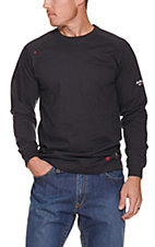 Ariat Men's Navy Air Crew L/S Flame Resistant Work Shirt