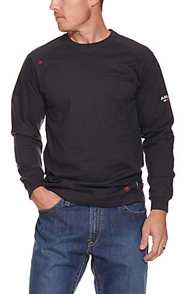 4415c56ea7 Ariat Men's Navy Air Crew L/S Flame Resistant Work Shirt | Cavender's