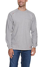 Ariat Men's Heather Silver Fox Air Crew L/S Flame Resistant Work Shirt