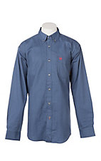 Ariat Men's Burleigh Blue Print L/S Work Shirt