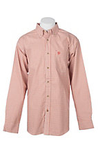 Ariat Men's Logan Orange Plaid L/S Work Shirt