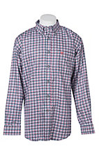 Ariat Men's Mercer Navy and Multi Color Plaid L/S Work Shirt