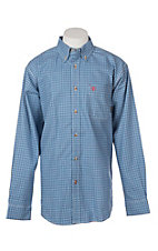 Ariat Men's Oliver Blue Plaid L/S Work Shirt