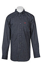 Ariat Men's Stark Navy Print L/S Work Shirt
