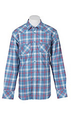 Ariat Men's Manning Retro Cendre Blue L/S Work Shirt