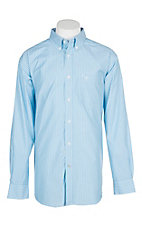 Ariat Pro Series Griffith Blue and White Stripe L/S Western Shirt
