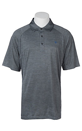 Ariat Men's Charger Blue Steel Heat Series Tek Polo Shirt