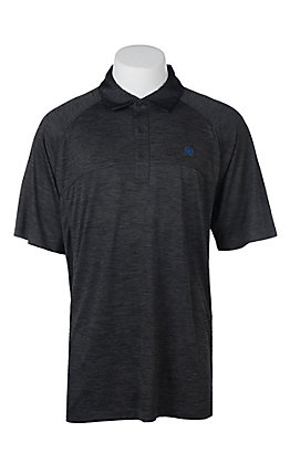 Ariat Men's Charger Charcoal Heat Series Tek Polo Shirt