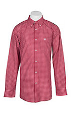 Ariat Pro Series True Crimson Gabriel Plaid L/S Western Shirt