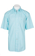Ariat Men's Blue Radiance Geno S/S Western Shirt - Big & Tall