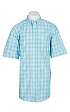 Ariat Pro Series Blue Radiance Gebson Plaid S/S Western Shirt